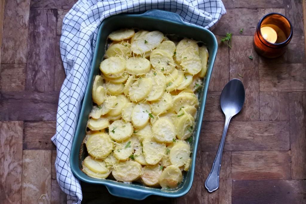 Vegan aardappelgratin | bijgerecht | kerstrecept | feestdagen | Puur Suzanne
