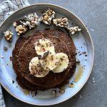 Vegan pannenkoeken met chocolade