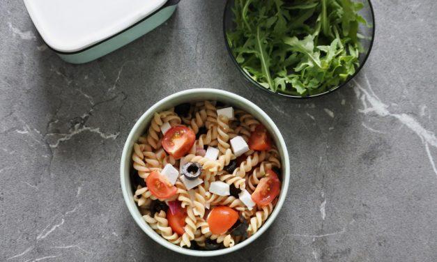 Vegan pastasalade